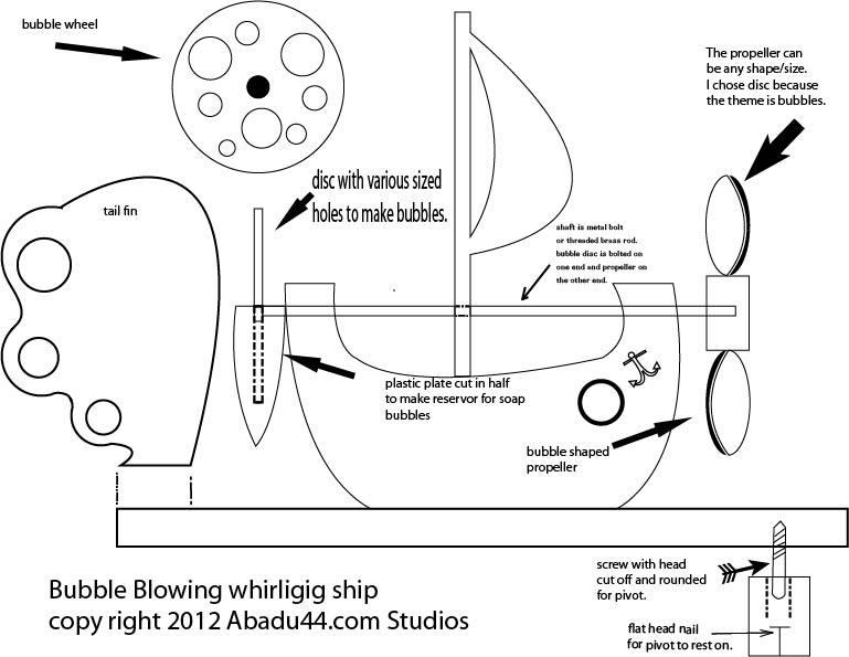 Free Patterns and ideas: Bubble Blowing whirligig ship