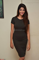 Priya Vadlamani super cute in tight brown dress at Stone Media Films production No 1 movie announcement 017.jpg