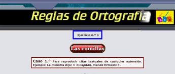 http://www.reglasdeortografia.com/comillas01.html