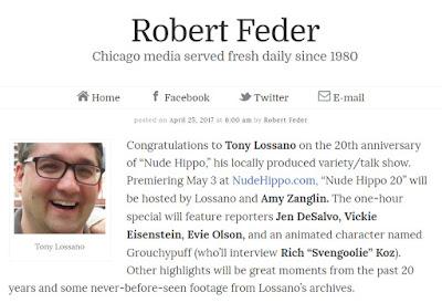Tony Lossano, etc.: Nude Hippo: The True Chicago Story