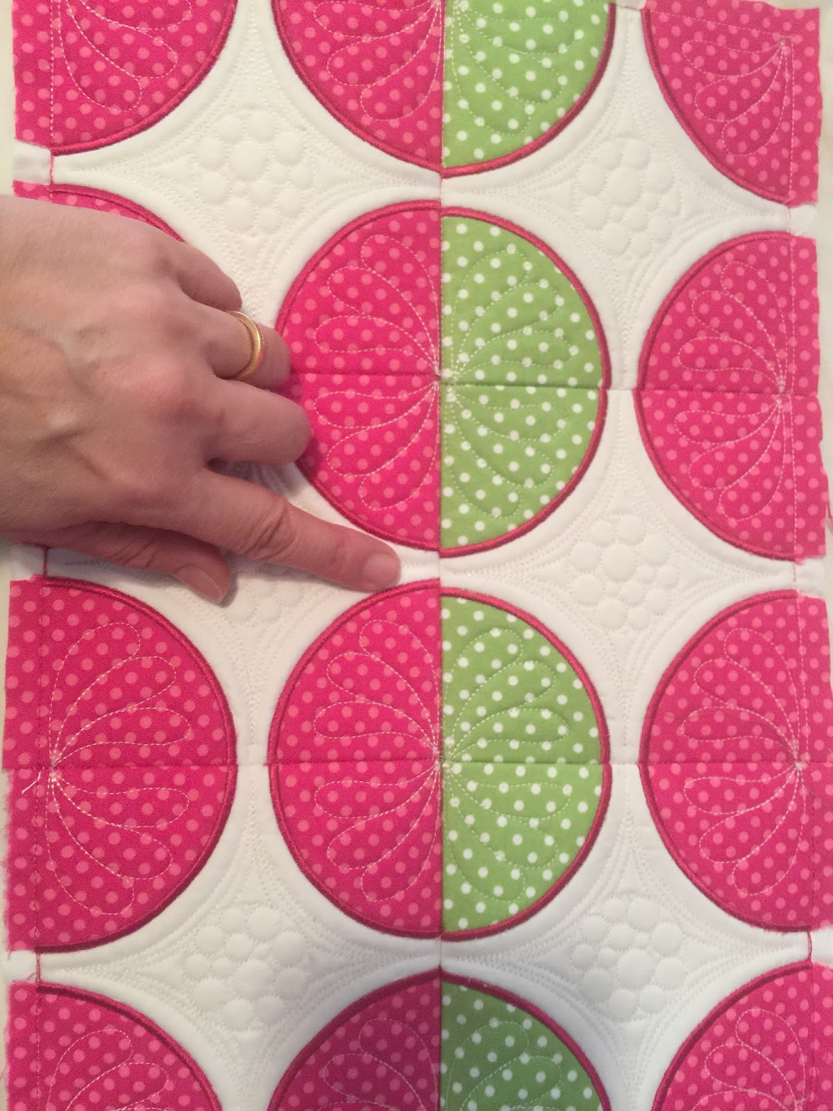 quilting with an embroidery machine