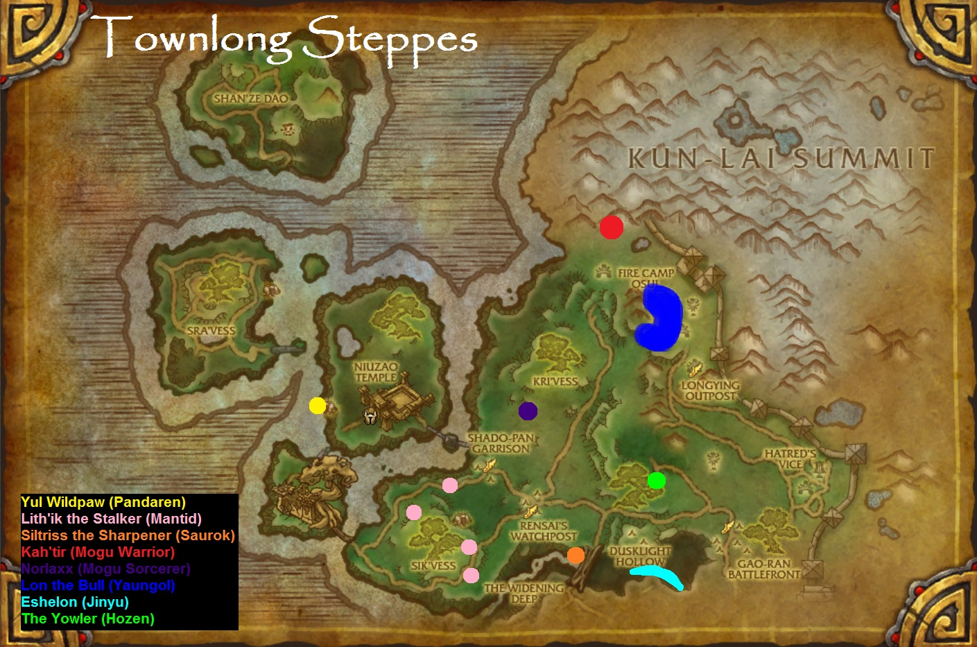 1 - 90 For Priests (85 - 90 for all classes) - Guides ... |Townlong Steppes Map