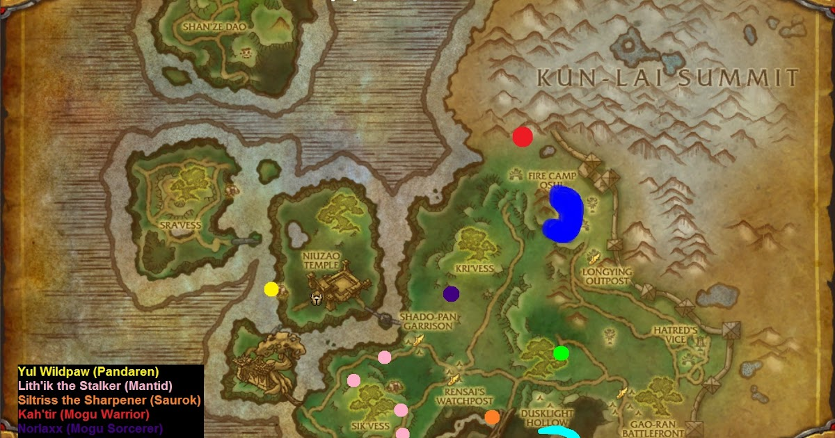 WoW Rare Spawns Townlong Steppes Rare Champions