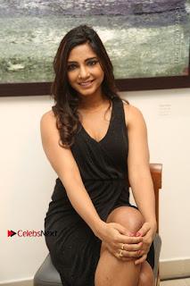 Telugu Actress Kamna Singh Stills in Black Dress at Bharat Thakur Art Exhibition Launch  0136.jpg