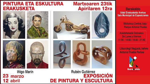 Cartel de la exposición de Íñigo Marín