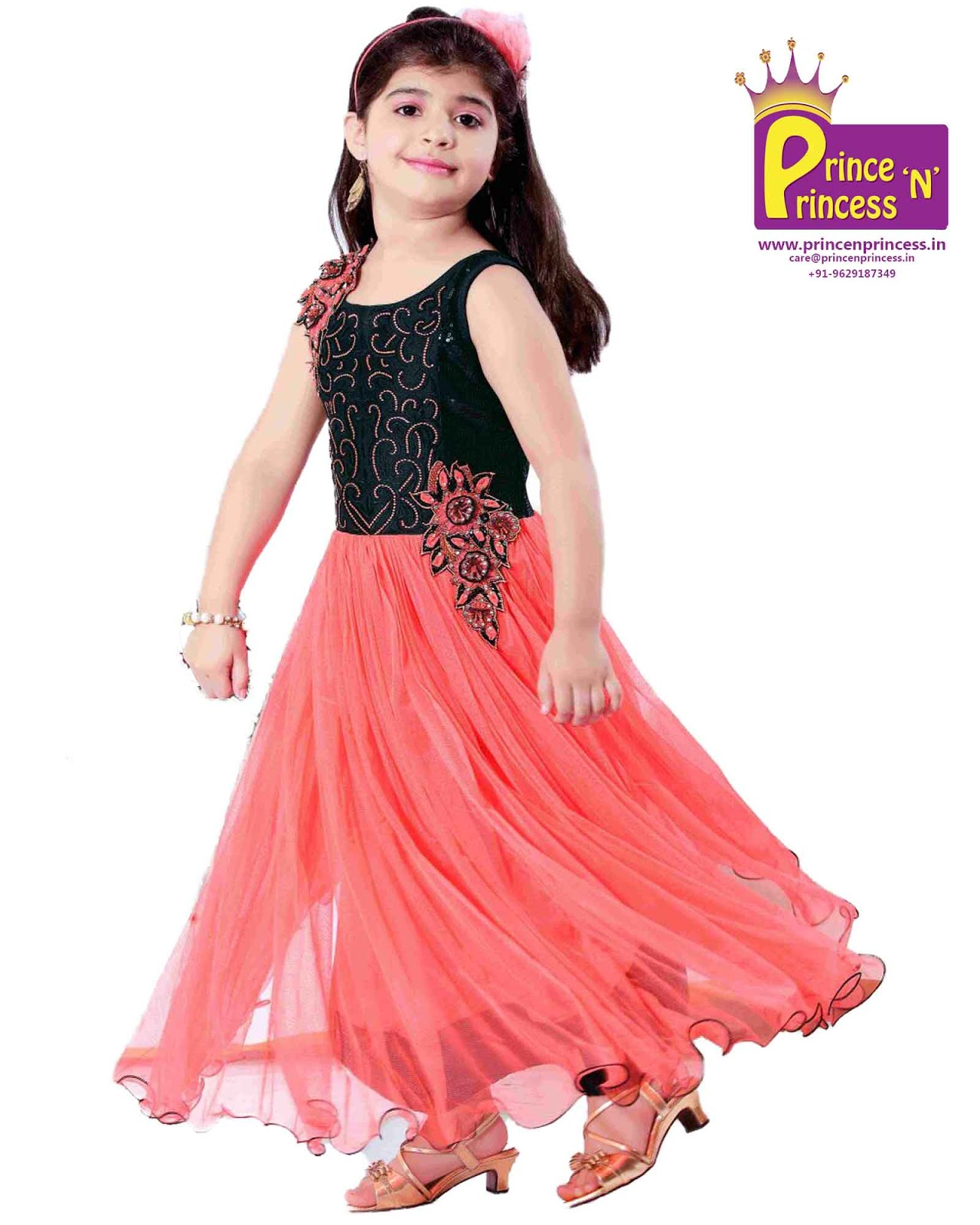 Pattu Pavadai: Kids Party Frock Gown