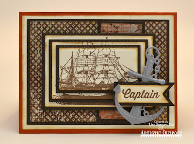 The Captain, Vagabond Treasurers Paper Collection, Dies: Rectangles, Double Stitched Rectangles, Pennant Flags, Double Stitched Pennant Flags, ODBD Stamp/Die Duos: You Anchor Me