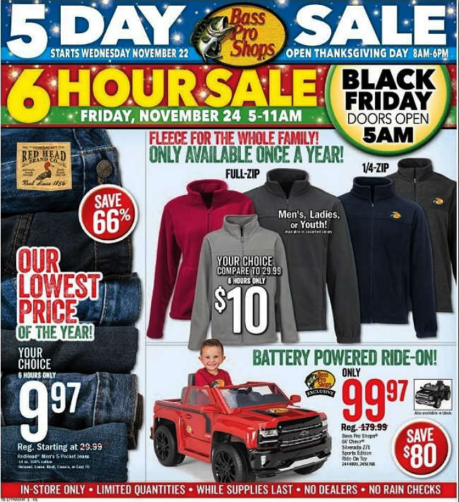 Bass Pro Shops Black Friday 2017 Ad
