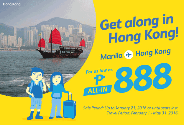 Cebu Pacific Air Promo Ticket Manila to Hong Kong 2016