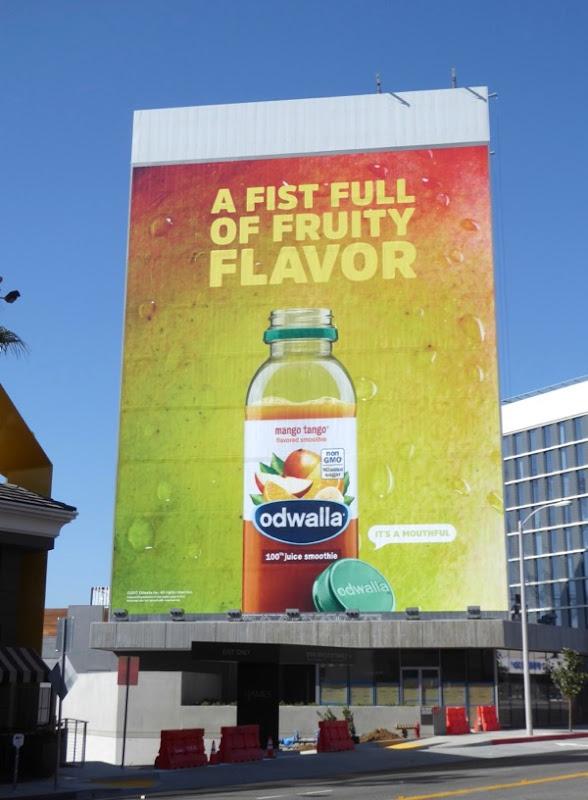 Giant Odwalla fist full fruity flavor billboard