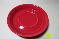 Untersetzer oben: Porzellan Teekannenservice von Original First Tea (Rot)
