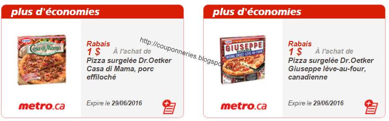 Metro pizza coupons