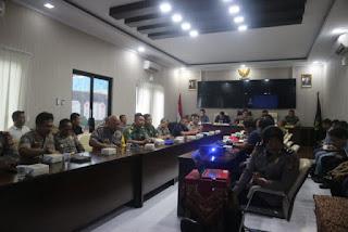 Rapat Koordinasi Evaluasi  Pengamananan Sidang Pleno Pileg Dan Pilpres 2018