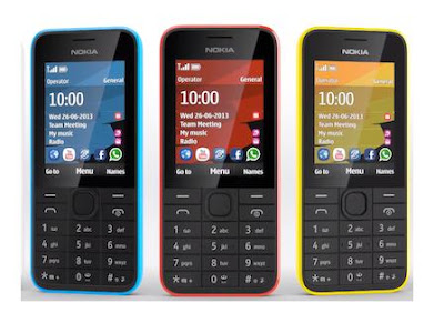Nokia 207 Camera-less 3.5G Smartphone with GPRS EDGE Internet & JAVA