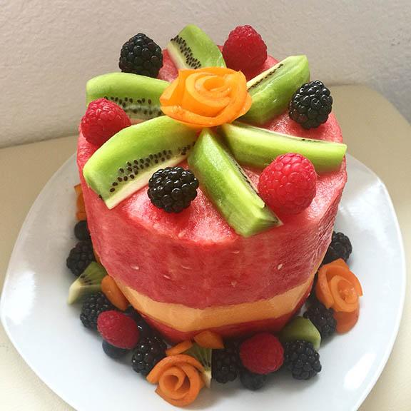 all fruit birthday cake - photo #4