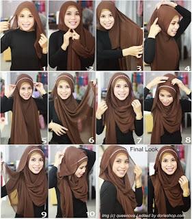 Cara Memakai Hijab Pashmina Simpel
