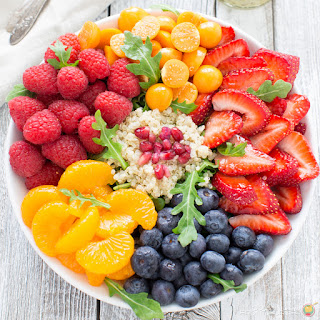 Fresh Fruit Arugula Salad