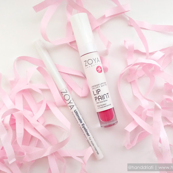 Review ZOYA Cosmetics LIP PAINT Lacquer Lipstick Velvet Matte & Ultimate Eyeliner