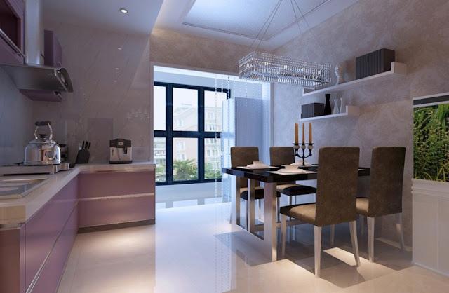 Ruang Makan Minimalis dengan Dapur