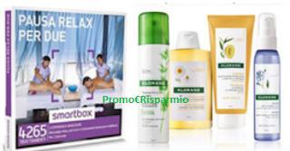 Logo Gioca e vinci gratis Kit di prodotti Klorane e cafanetto Smartbox