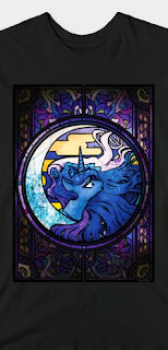 Stained Glass Pony Shirt Luna