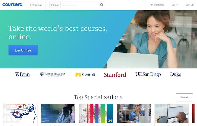 أفضل 5 مواقع كورسات اون لاين مجانا للدورات المجانية على الانترنت مع شهادات - موقع Coursera