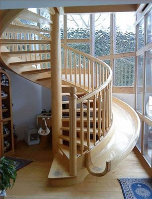 Decoración de Interiores : Escalera tobogán