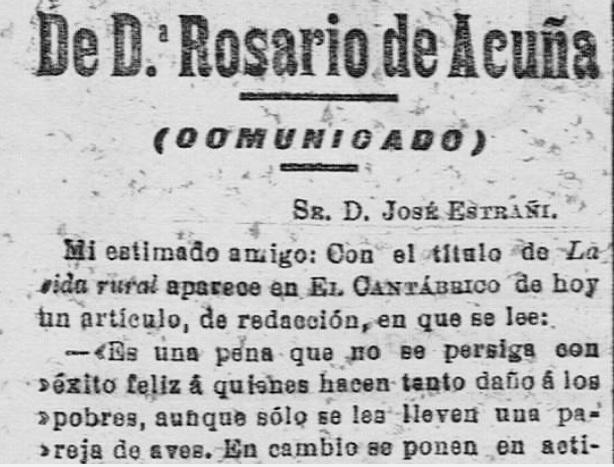 Fragmento del comunicado publicado en El Cantábrico (18-4-1905)