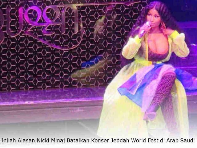 Inilah Alasan Nicki Minaj Batalkan Konser Jeddah World Fest di Arab Saudi
