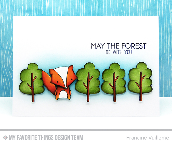 Foxy Forest Card by Francine Vuillème featuring the Forest Friends stamp set #mftstamps