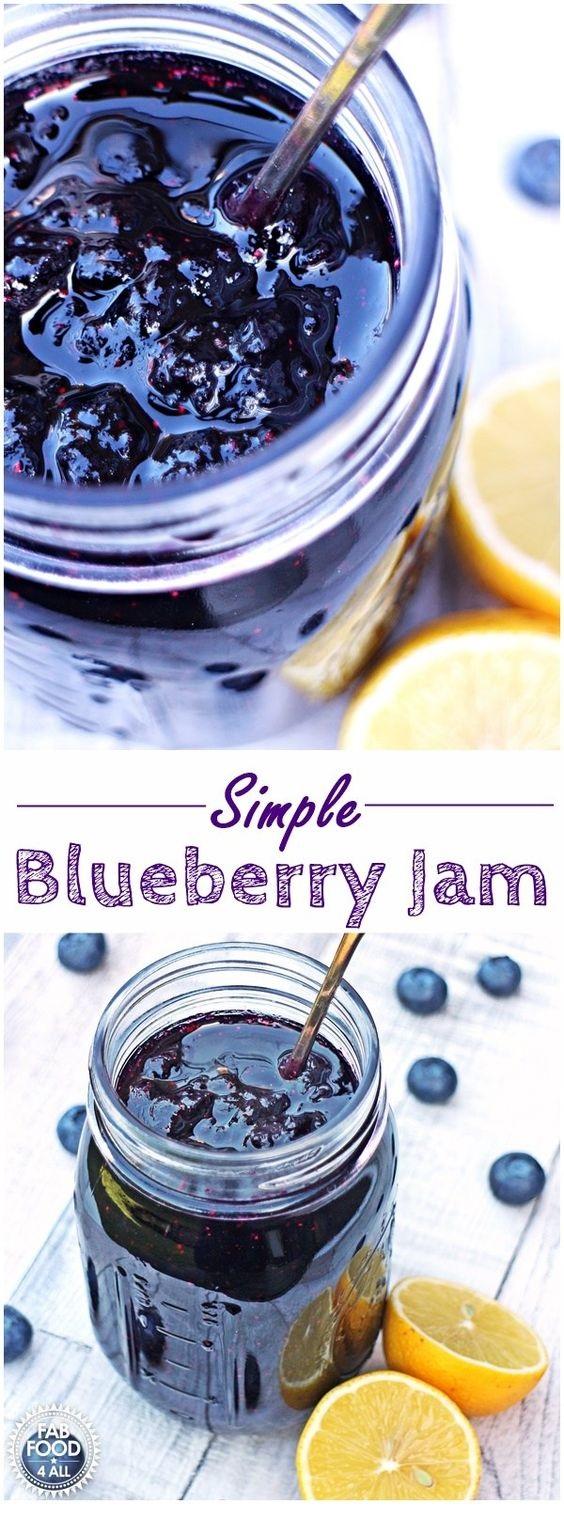 Simple Blueberry Jam - no pectin, just 3 ingredients!