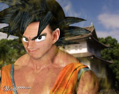Goku con un aspecto muy real.
