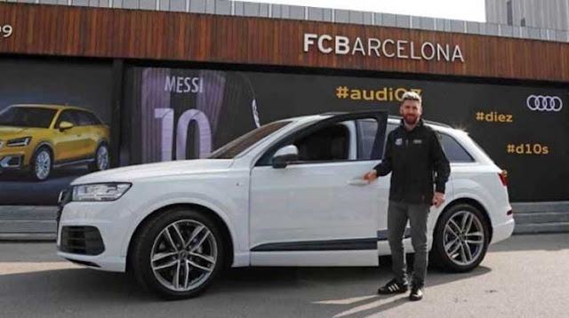Messi+Car+Collection+Audi+Q7