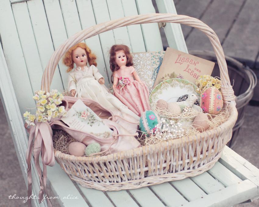 DIY Vintage Inspired Easter Baskets