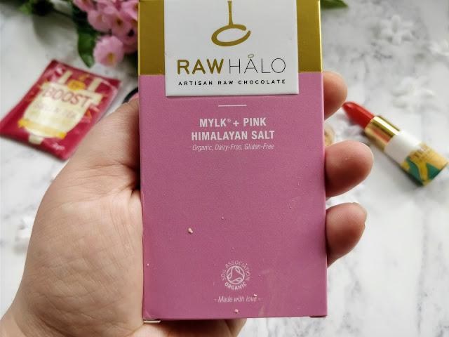Raw Halo Mylk + Pink Himalayan Salt Chocolate Bar