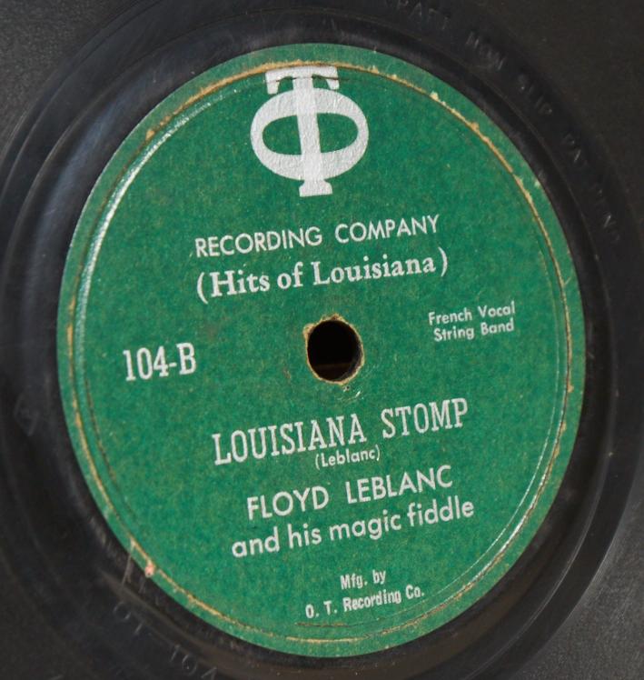 "Early Cajun Music: ""Louisiana Stomp"" - Floyd Leblanc"