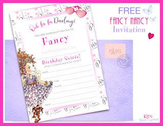 free fancy nancy birthday invitations