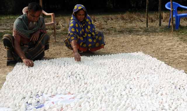 কুমুর বড়ই তৈরিতে ব্যস্ত নন্দীগ্রামের কারিগররা