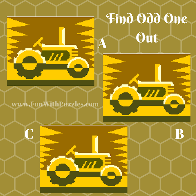 Odd One Out Picture Puzzle Tractor