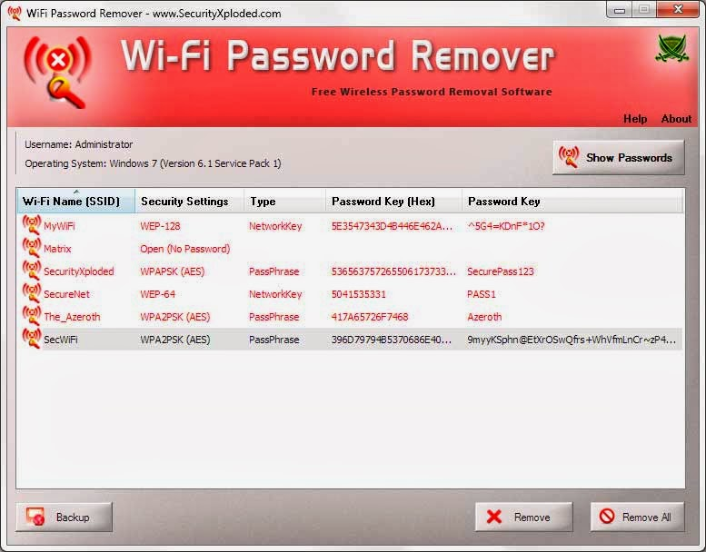 WiFi Password Remover v2.0