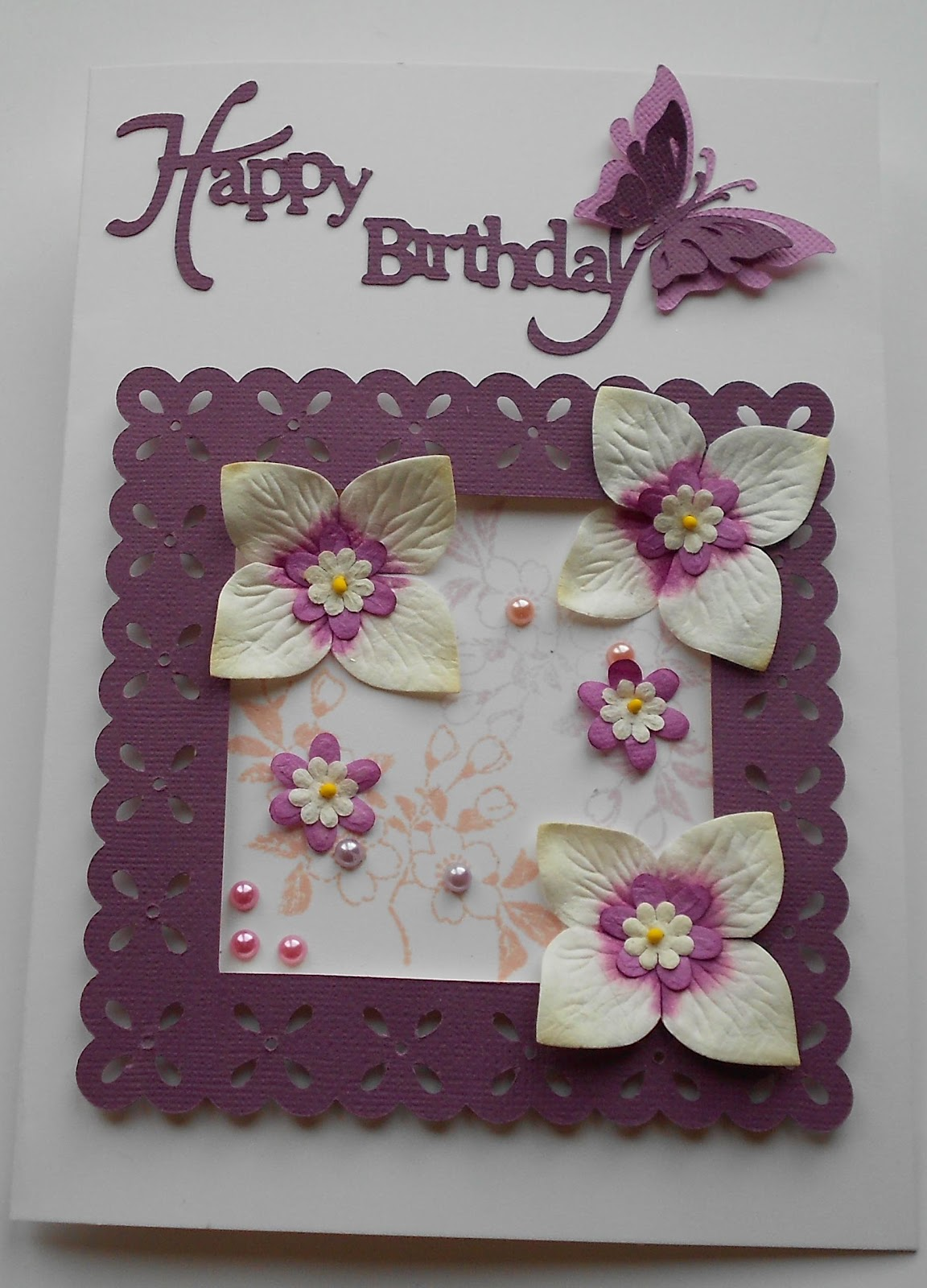 Sues Art Of Craft In The Frame For A Birthday Card