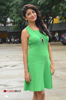 Actress Poonam Kaur Pictures in Green Short Dress at Prayanam Movie Opening  0026.JPG