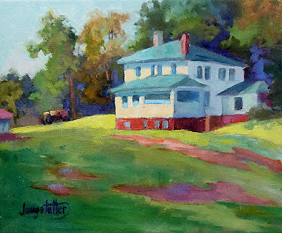 "North Carolina Landscape Oil Painting ""Midday In Ironduff"" by Georgia Artist Deanna Jaugstetter"