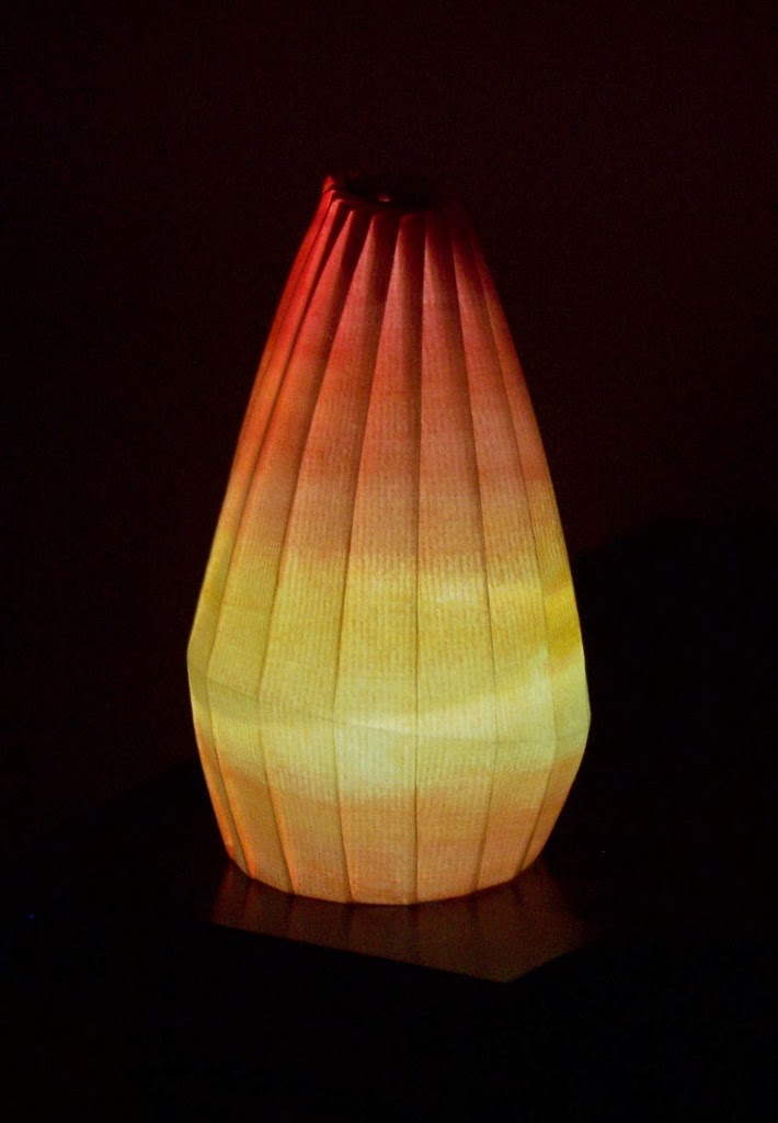 pleated origami light