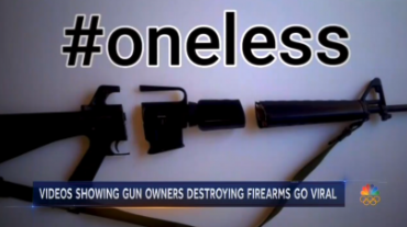 NBC Glorifies Gun Owners Destroying Their Weapons on Social Media