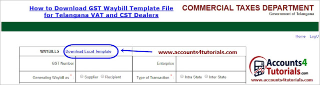 download telangana gst waybill template file