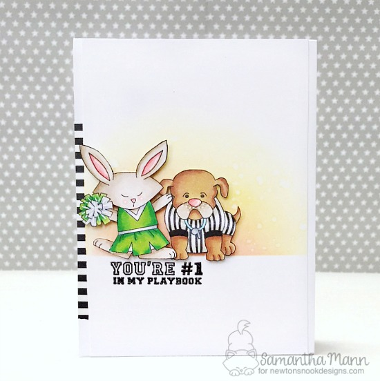 Football Season Card by Samantha Mann | Touchdown Tails Stamp Set by Newton's Nook Designs #newtonsnook