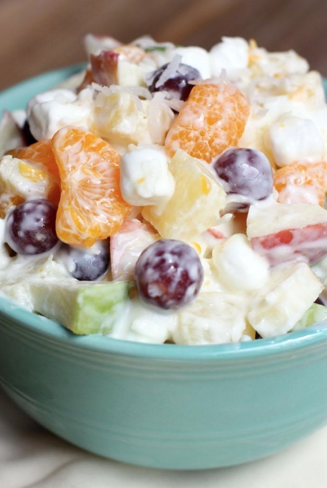 Cooking Pinterest Creamy Fruit Salad Recipe