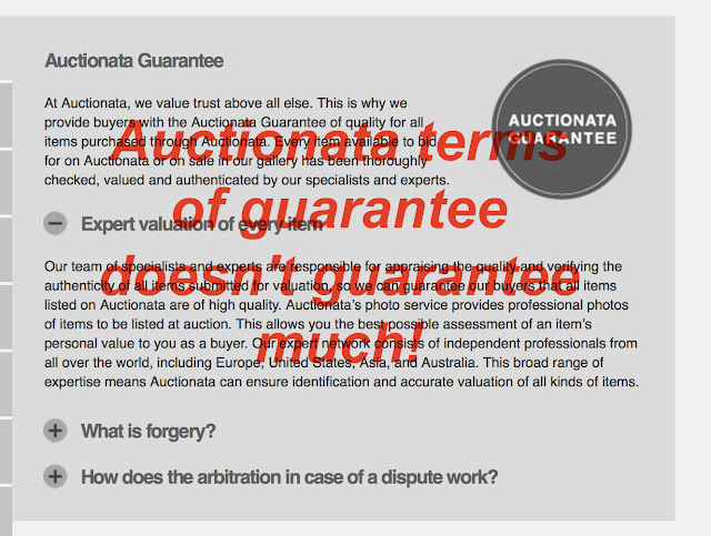 Auctionata erroneously claims all lots have been thoroughly checked, valued and authenticated