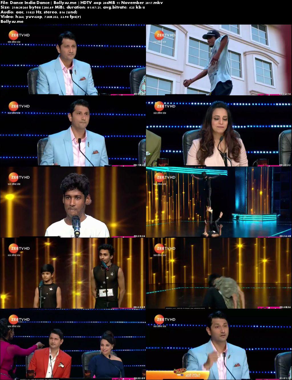 Dance India Dance HDTV 480p 200MB 11 November 2017 Download